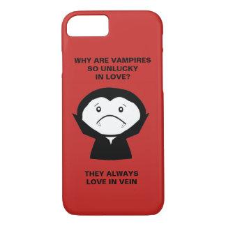 Capa iPhone 8/ 7 Piada do vampiro do Dia das Bruxas engraçado