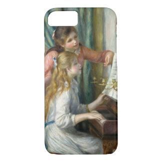 Capa iPhone 8/ 7 Pierre Renoir - raparigas no piano