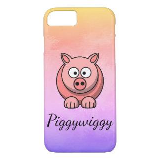 Capa iPhone 8/ 7 PiggyWiggy pouco leitão bonito Pastel de Pigling