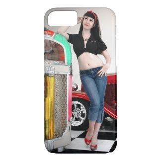 Capa iPhone 8/ 7 Pin de hot rod Rockabilly da garagem acima da