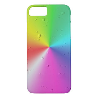 Capa iPhone 8/ 7 pingos de chuva no espectro do arco-íris