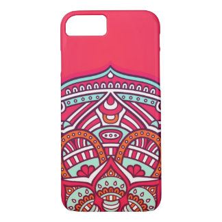 Capa iPhone 8/ 7 Pink colorful mandala