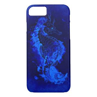 Capa iPhone 8/ 7 Pintura azul do cavalo marinho