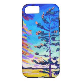 Capa iPhone 8/ 7 Pintura colorida do pinheiro