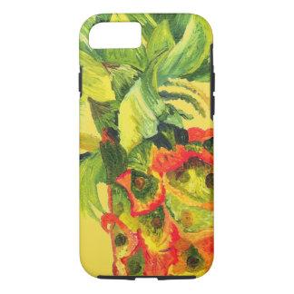 Capa iPhone 8/ 7 Pintura do abacaxi (arte de K.Turnbull)