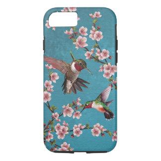 Capa iPhone 8/ 7 Pintura do colibri do estilo do vintage