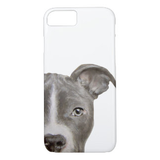 Capa iPhone 8/ 7 pintura do pitbull e design cinzentos, originais