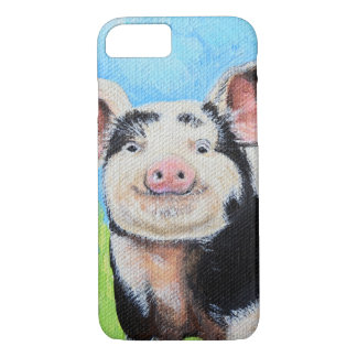 Capa iPhone 8/ 7 Pintura pequena feliz do porco