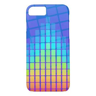 Capa iPhone 8/ 7 Pirâmide colorida arco-íris dos retângulos