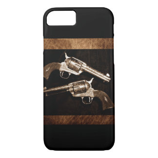 Capa iPhone 8/ 7 Pistolas retros do país ocidental do vaqueiro do