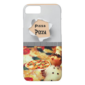 Capa iPhone 8/ 7 Pizza da pizza do cozinheiro chefe