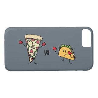 Capa iPhone 8/ 7 Pizza de Pepperoni CONTRA o Taco: Mexicano contra