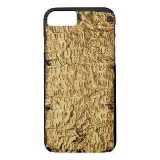 """Capa iPhone 8/ 7 Placa de ouro com inscrição """"longa"""" de Etruscan"""