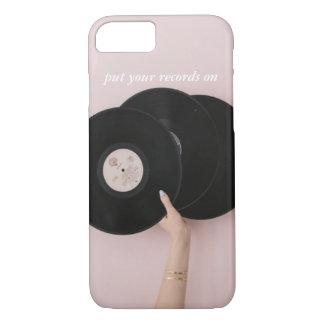 Capa iPhone 8/ 7 Pnha seus registros sobre o caso de IPhone 7