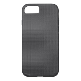 Capa iPhone 8/ 7 Polímero preto e cinzento da fibra do carbono