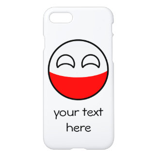 Capa iPhone 8/7 Polônia Geeky de tensão engraçado Countryball