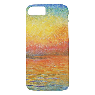 Capa iPhone 8/ 7 Por do sol de Claude Monet na arte do