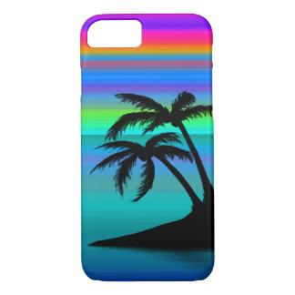 Capa iPhone 8/ 7 Por do sol tropical da ilha