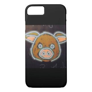 Capa iPhone 8/ 7 Porco de néon