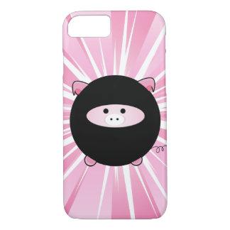 Capa iPhone 8/ 7 Porco de Ninja no rosa