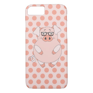 Capa iPhone 8/ 7 Porco e Polkadots