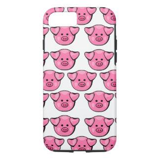 Capa iPhone 8/ 7 Porcos cor-de-rosa bonitos