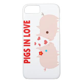 Capa iPhone 8/ 7 porcos no amor