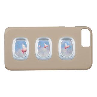 Capa iPhone 8/ 7 porcos que voam após janelas do avião