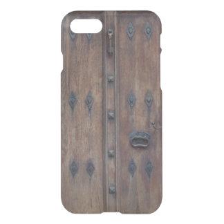 Capa iPhone 8/7 Porta de madeira espanhola velha com parafusos