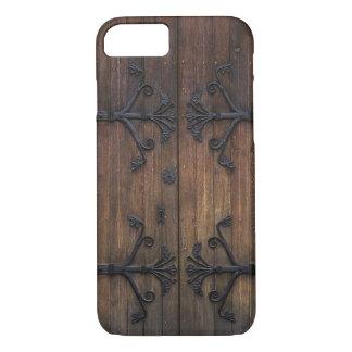 Capa iPhone 8/ 7 Porta de madeira velha rústica