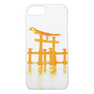 Capa iPhone 8/ 7 Porta de Torii no exemplo do telemóvel da água