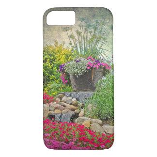 Capa iPhone 8/ 7 pote de flor no jardim