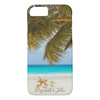 Capa iPhone 8/ 7 Praia, palma, Seashells - personalizados