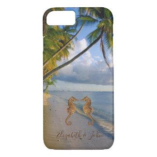 Capa iPhone 8/ 7 Praia tropical, palma, Cavalo