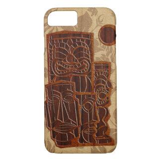 Capa iPhone 8/ 7 Prancha de madeira da madeira do falso de Koa Tiki