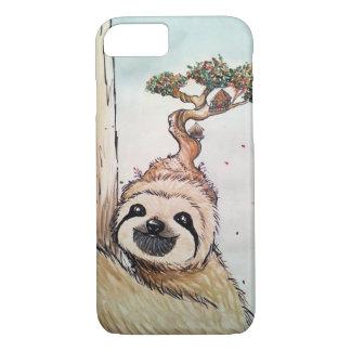 Capa iPhone 8/ 7 Preguiça animal bonito com casa na árvore dos