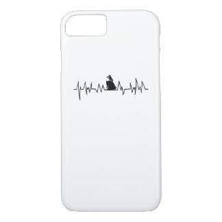 Capa iPhone 8/ 7 Presente do Pug da pulsação do coração para o