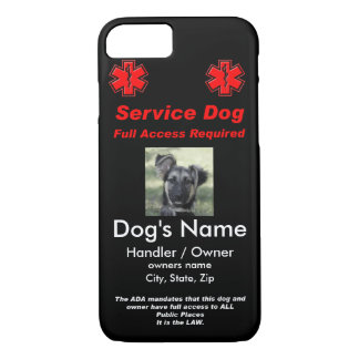 Capa iPhone 8/ 7 Preste serviços de manutenção ao Tag de cão