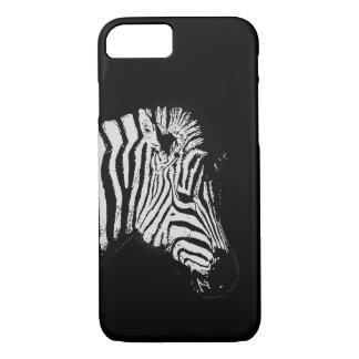 Capa iPhone 8/ 7 Preto animal dos animais selvagens da zebra preto
