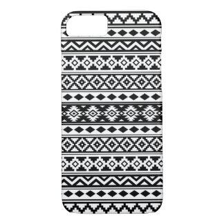 Capa iPhone 8/ 7 Preto & branco astecas de IIb do teste padrão da