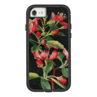Capa iPhone 8/ 7 Preto de Crabapple da pradaria e bonito floral