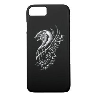 Capa iPhone 8/ 7 Preto de prata do lobo