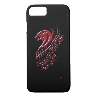 Capa iPhone 8/ 7 Preto do lobo vermelho