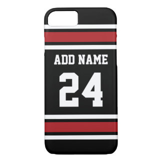 Capa iPhone 8/ 7 Preto e vermelho ostenta o número conhecido feito