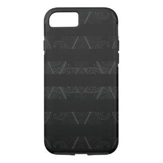 Capa iPhone 8/ 7 Preto Embellished Argyle listrado