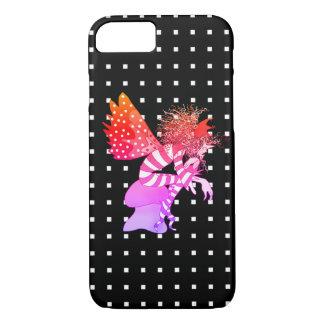Capa iPhone 8/ 7 Preto quadrado geométrico da borboleta masculina