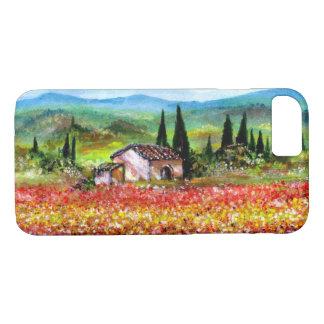 Capa iPhone 8/ 7 PRIMAVERA em campos de flor coloridos da PAISAGEM
