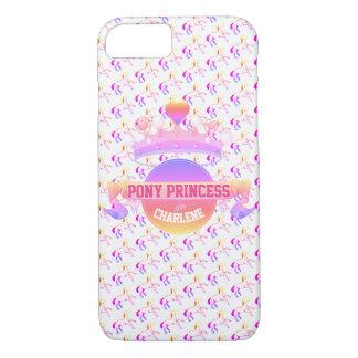 Capa iPhone 8/ 7 Princesa cor-de-rosa e roxa do pônei