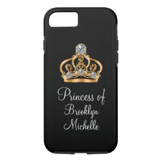 Capa iPhone 8/ 7 Princesa engraçada feminino elegante Coroa de