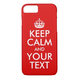 Capa iPhone 8/ 7 Projete-o que próprios mantêm a calma e continue-o